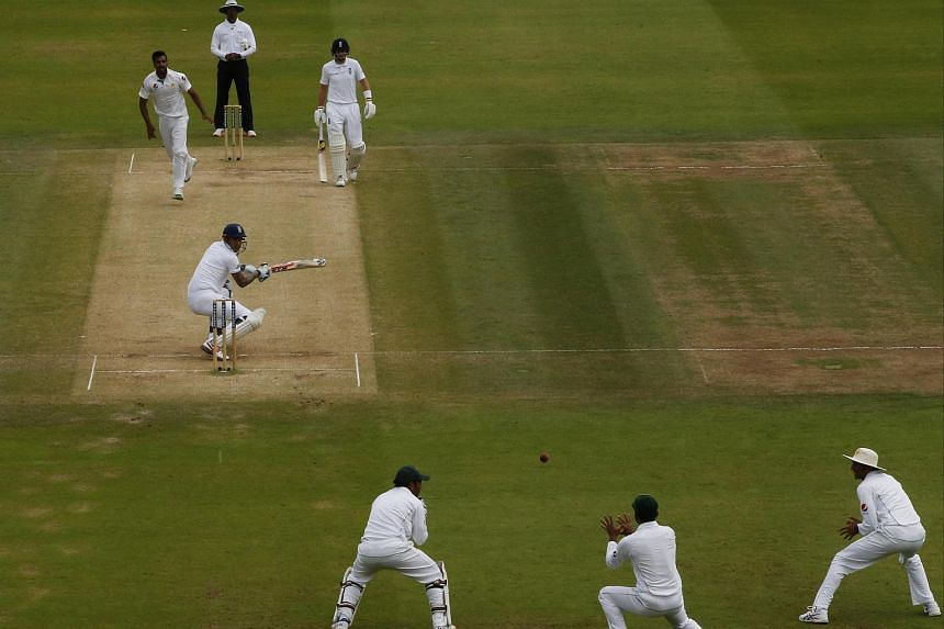 England's Alex Hales as he was caught by Pakistan's Mohammad Hafeez on July 17.
