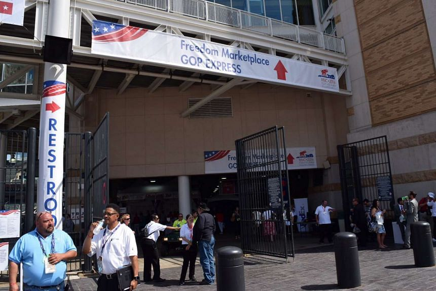 "The Republican National Committee opened a ""Freedom Marketplace"" in the Cleveland Indians baseball stadium next to the Cleveland Cavaliers basketball arena where their convention is being held."