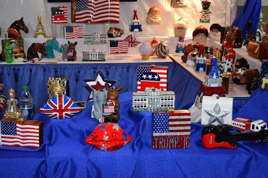 High-priced Republican trinkets sold by Timmy Woods of Beverly Hills.