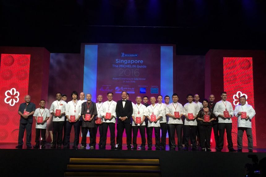 Representatives of the 22 eateries awarded one Michelin star.