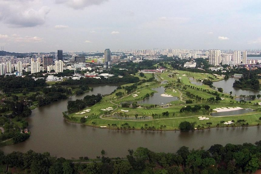 The Jurong Country Club site where the terminus of the Singapore-Kuala Lumpur high-speed rail will be located.
