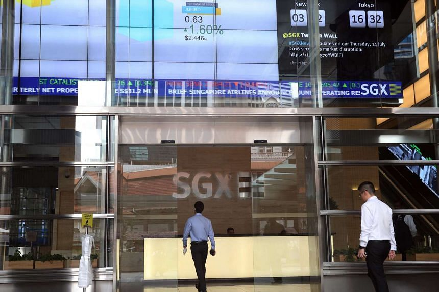 Entrance to the Singapore Exchange.