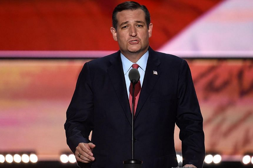 US Senator Ted Cruz of Texas speaks on the third day of the Republican National Convention in Cleveland, Ohio, on July 20.