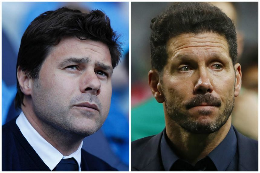 Mauricio Pochettino (left) and Diego Simeone are being considered by Argentina to replace resigned national coach Gerardo Martino.