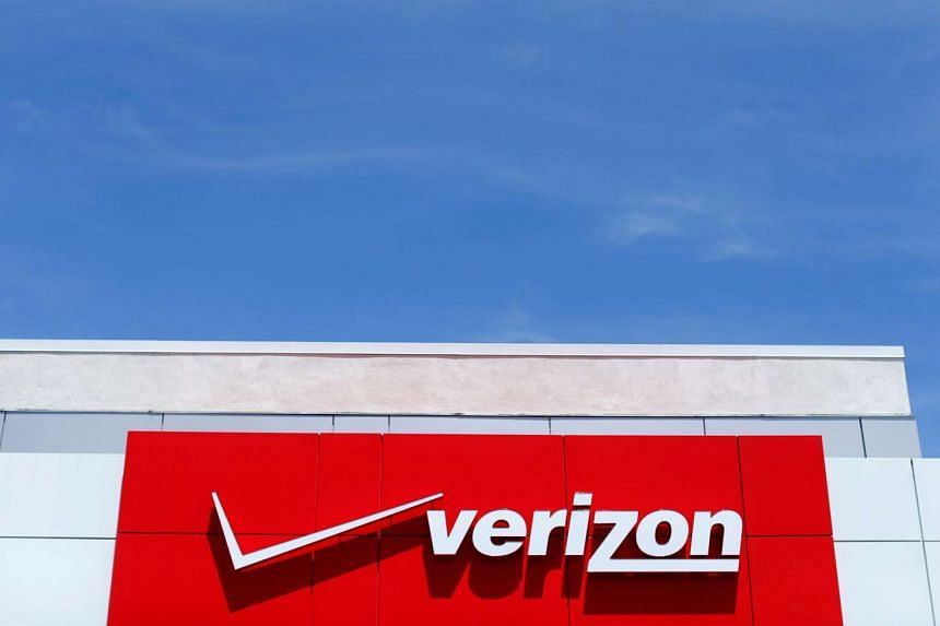 The logo of Verizon at a retail store in San Diego, California, on April 21, 2016.