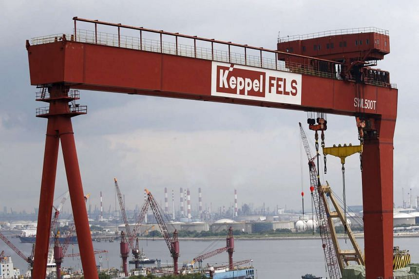 A view of a Keppel Corporation shipyard in Singapore on Jan 19.