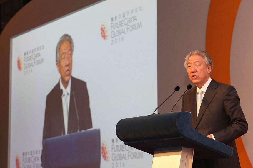 Deputy Prime Minister Teo Chee Hean giving his opening speech at an event on July 18.