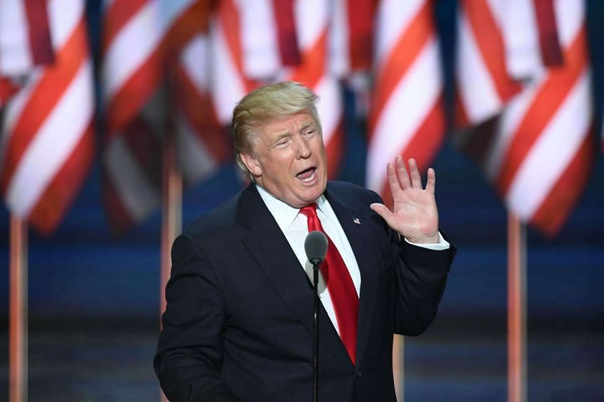 US Republican presidential candidate Donald Trump speaks on the last day of the Republican National Convention on July 21 in Cleveland, Ohio.