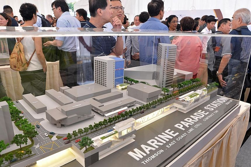 Works for the East Coast stretch of the Thomson-East Coast Line were launched at a ground-breaking ceremony yesterday. If plans for an extension to Changi Airport materialise, there will be a direct train connection from the airport to the city.