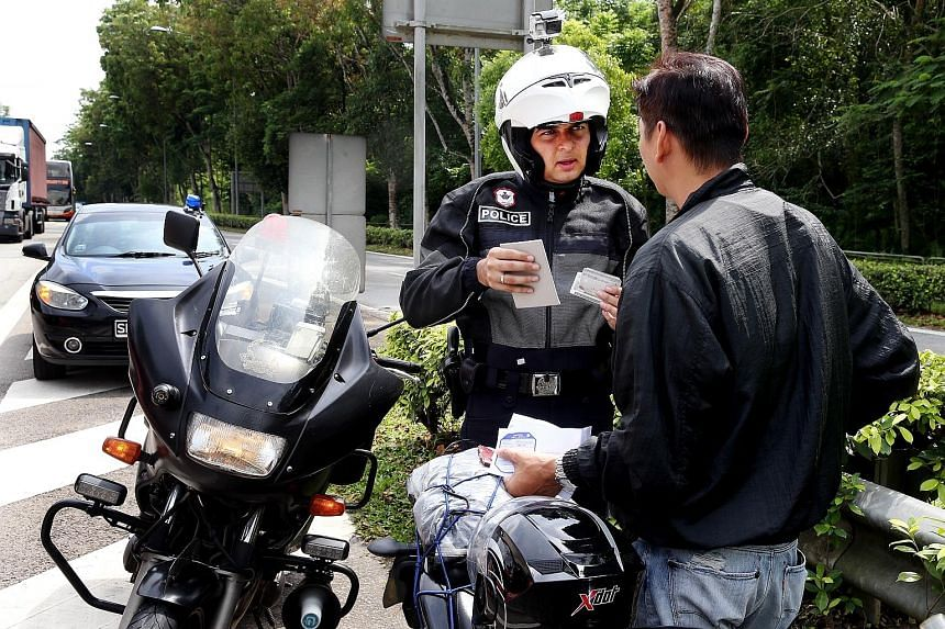 Covert police officers wearing black jackets and riding black motorcycles have been patrolling the streets since last month.