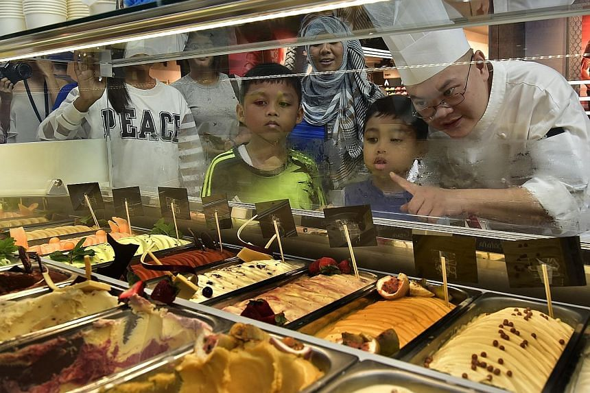 When it comes to fund-raising, Marina Bay Sands (MBS) has it licked. The hotel and shopping mall yesterday launched its second Scoops of Hope event, selling ice cream created by celebrity chefs in aid of The Straits Times School Pocket Money Fund. Al