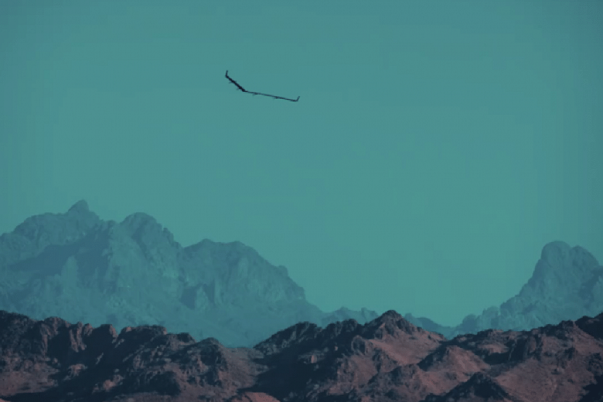 A screenshot of the drone in flight from a video posted by Facebook chief Mark Zuckerberg.