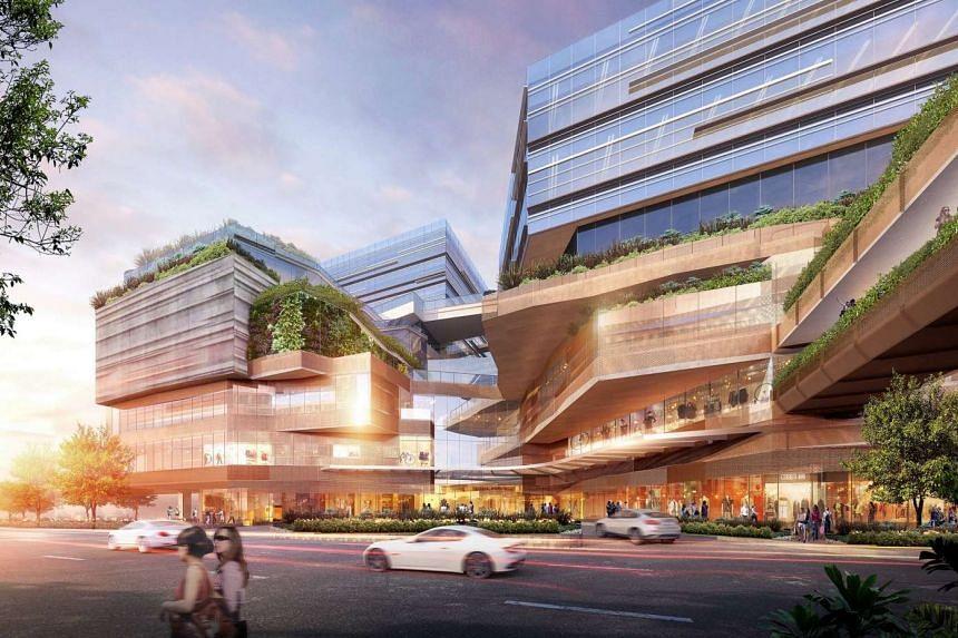 Artist's impression of Funan DigitaLife Mall.
