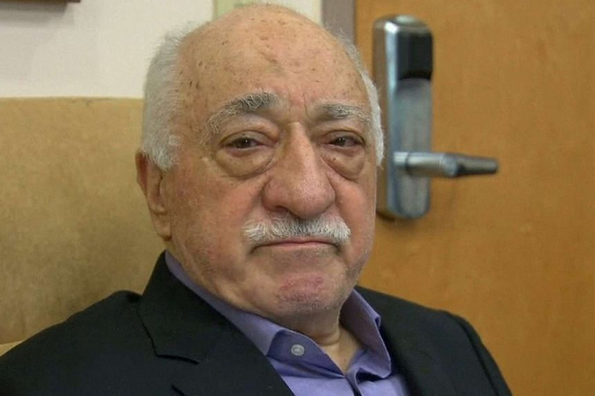 US-based cleric Fethullah Gulen speaks to journalists at his home in Saylorsburg, Pennsylvania, on July 16, 2016.