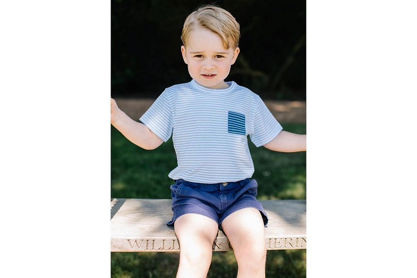 Prince George at the family's Norfolk home in mid-July.