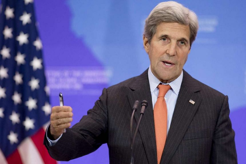 US Secretary of State John Kerry holds a press conference at the State Department in Washington, DC, on July 21, 2016.
