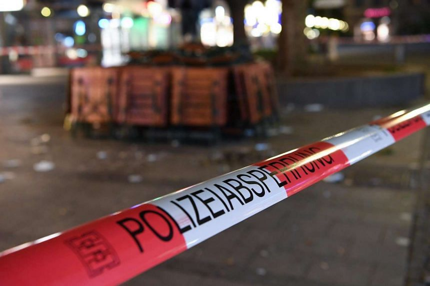 An area of the pedestrian zone in the centre of Munich, Germany on July 22 is sealed off.