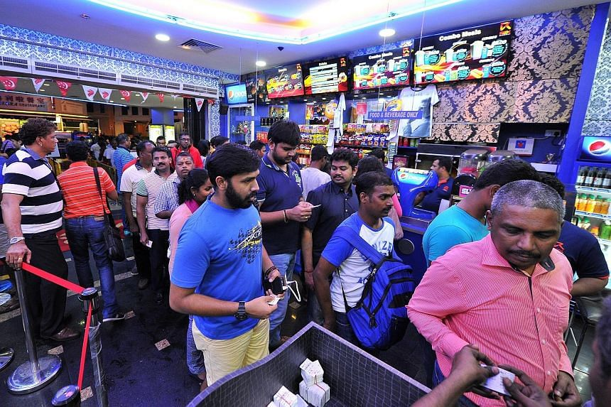 Long queues formed yesterday at Rex cinema in Mackenzie Road which was screening Kabali, the highly-anticipated new movie starring Tamil movie superstar Rajinikanth.