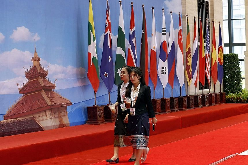 The Asean Foreign Ministers' Meeting is the first high-level Asean meeting since last week's tribunal ruling against China's claims in the South China Sea.