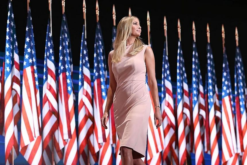"""Ms Trump praised her father in her speech at the Republican convention on Thursday night, calling him """"colour-blind and gender-neutral""""."""