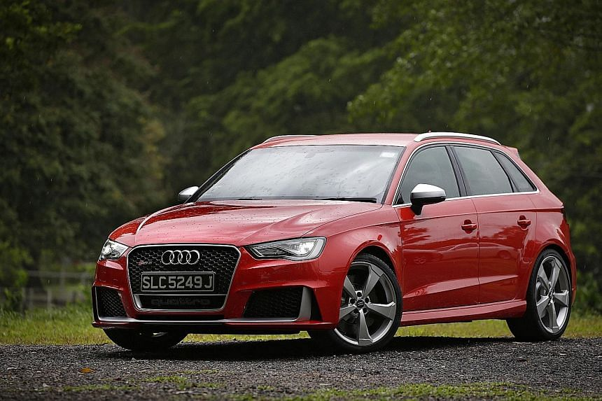 The RS 3 Sportback is well-furnished, but has a rock-hard ride calibrated for carving up the tarmac.