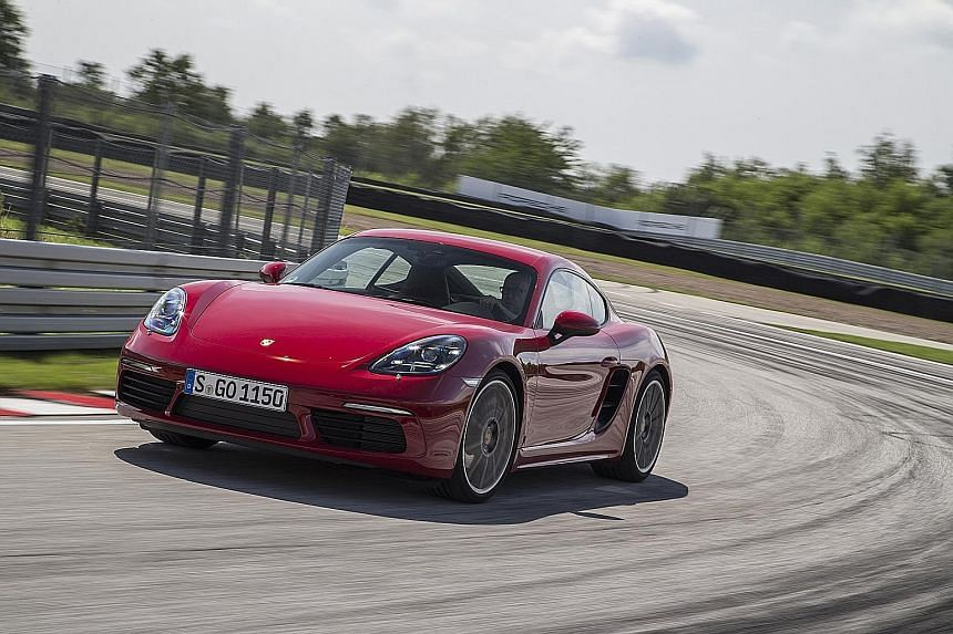 The 718 Cayman S has precise steering and an almost saloon-car ride comfort.
