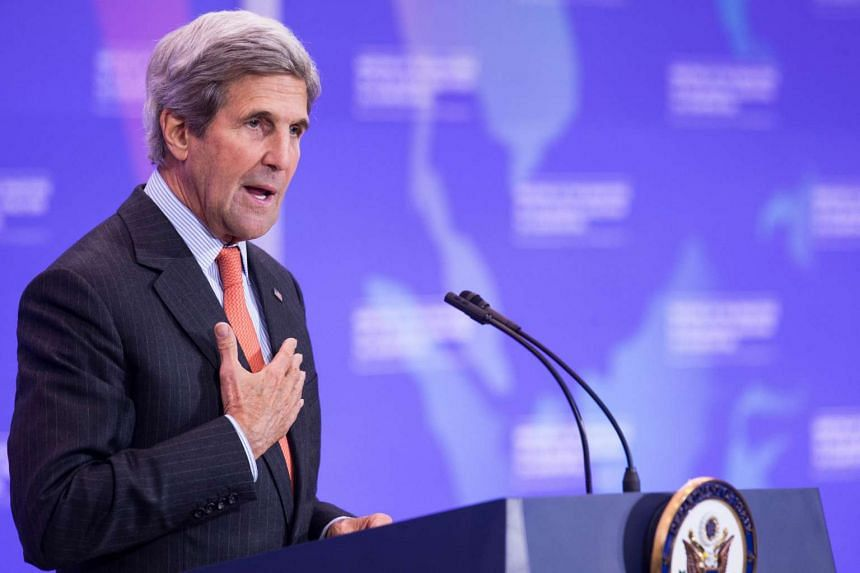 US Secretary of State John Kerry speaks at a press conference at The State Department on July 21, 2016, in Washington, DC.