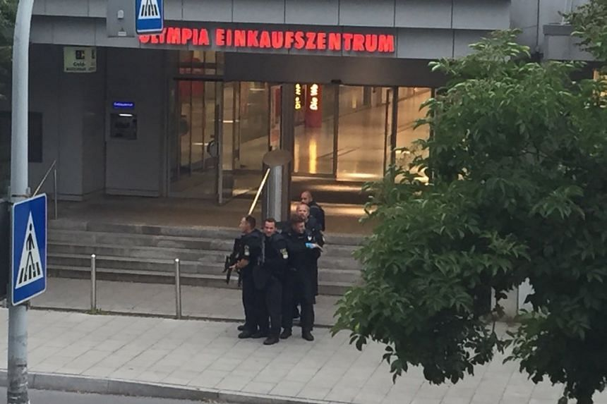 A photo uploaded to social media shows police outside the shopping centre.