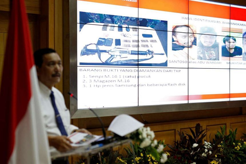 Indonesia's Chief Security Minister Luhut Pandjaitan discusses the killing of Santoso during a morning briefing with journalists at his office in Jakarta, Indonesia on July 20.