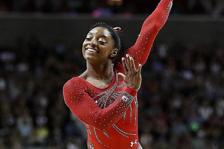 """SIngaporeans will not be able to catch these Olympic heroes """"live"""" on local TV: (From left) Jamaican sprinter Usain Bolt, US gymnast Simone Biles and Singapore's gold medal hopeful Joseph Schooling"""