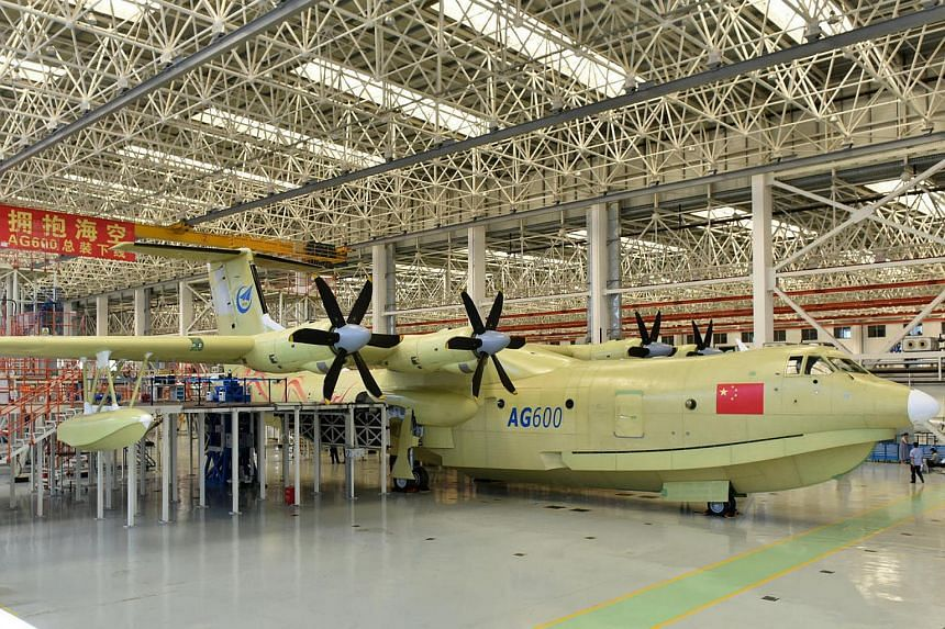 The state-owned Aviation Industry Corporation of China unveiled the first of the new planes, dubbed the AG600, on July 23 in the southern port city of Zhuhai.