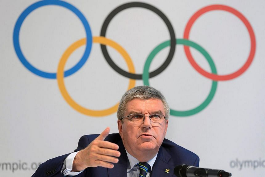 International Olympic Committee president Thomas Bach speaks during a press conference on June 21.
