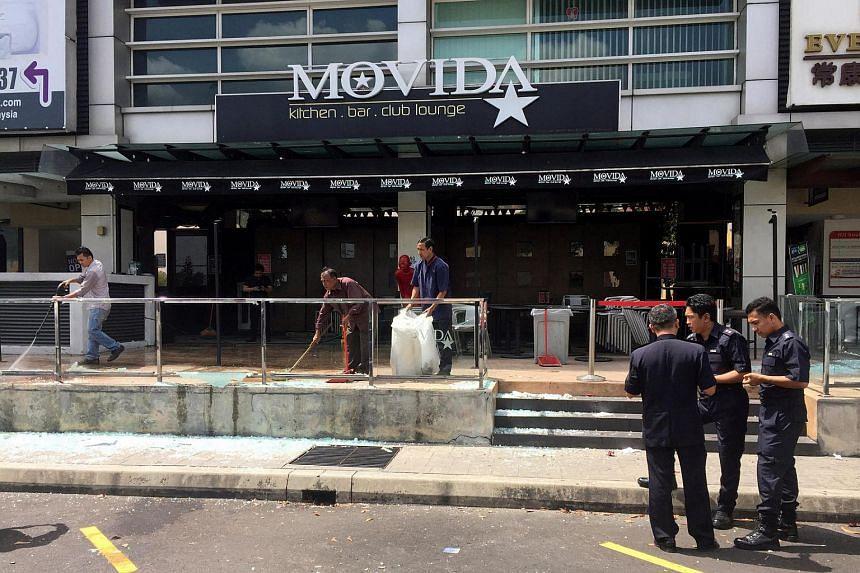 The Movida nightclub is pictured in Puchong, Kuala Lumpur, Malaysia on June 28.