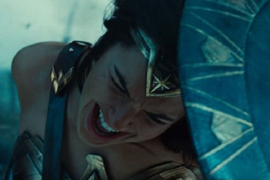 A screenshot from the new trailer. The movie stars Gal Gadot as the Amazonian heroine.