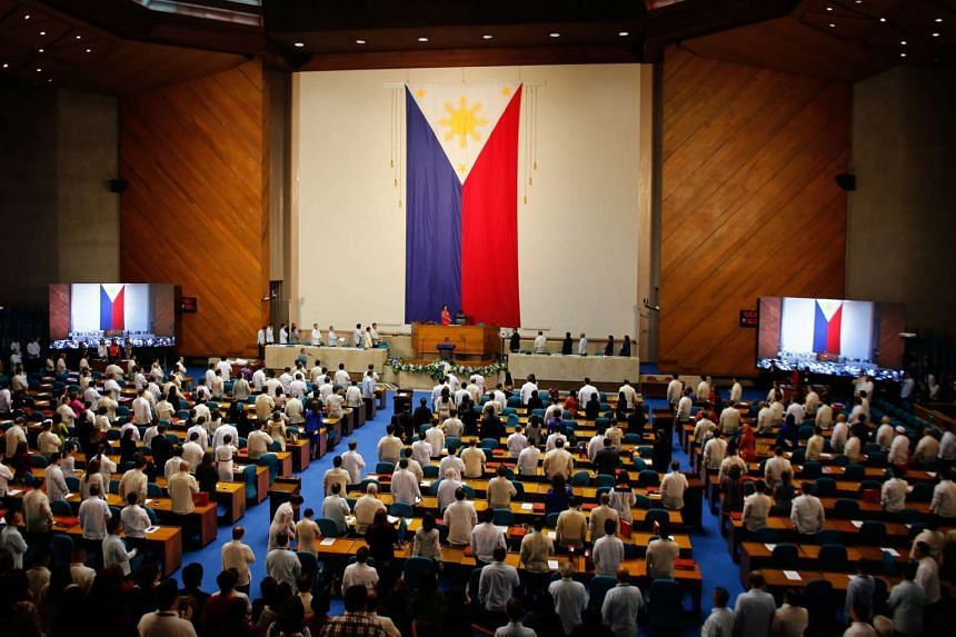 The opening session prior to The State of the Nation Address of President Duterte at the Philippine Congress in Quezon City on July 25, 2016.