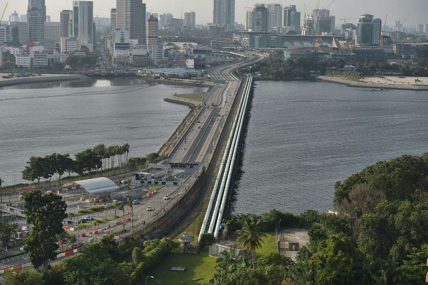 Traffic at the Causeway on March 13. Malaysia Transport Minister Liow Tiong Lai said the VEP would first be enforced on cars entering Singapore and later from Thailand, Brunei and Kalimantan.