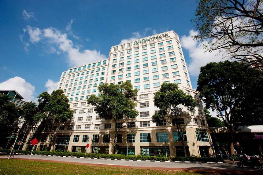 Raffles Hospital in Singapore.