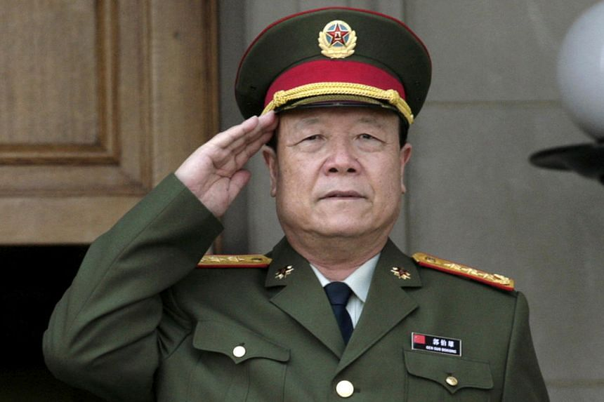 China's former vice-chairman of the Central Military Commission Guo Boxiong before a meeting at the Pentagon in Washington, on July 18, 2006.