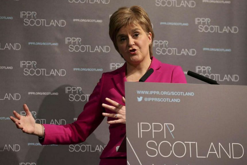 Scotland's First Minister Nicola Sturgeon speaks at the conference of the Institute for Public Policy Research think tank in Edinburgh, on July 25, 2016.