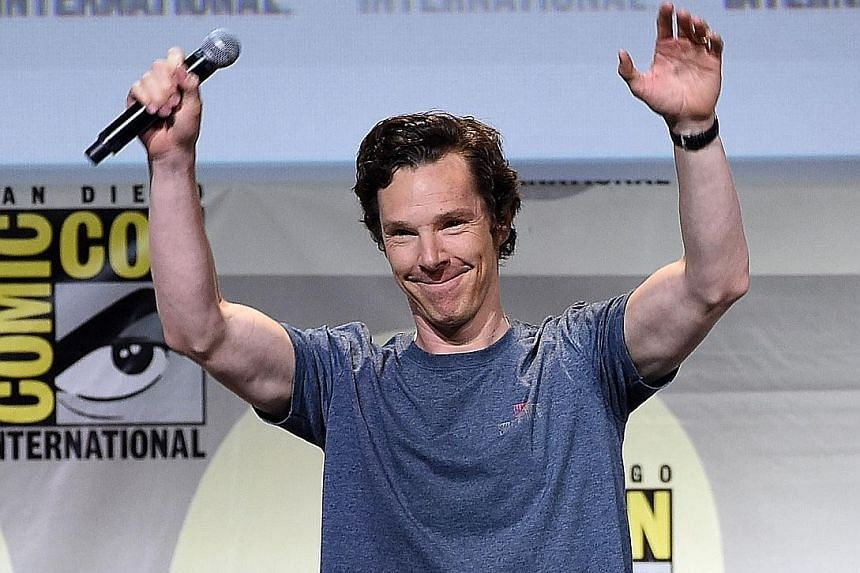 Benedict Cumberbatch at the Marvel Studios presentation.