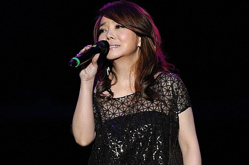 Singers turning up soon on the Singapore concert stage include Judy Ongg, Jay Chou, Kit Chan, Winnie Hsin (above) and Dave Wang Chieh.