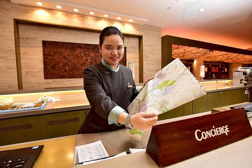 "Ms Cheok, a second-year SIT student enrolled in a hospitality business course, is doing an internship with the Pan Pacific Singapore hotel. The 22-year-old says: ""Although it is challenging, I've seen how rewarding it is to be working in this industr"