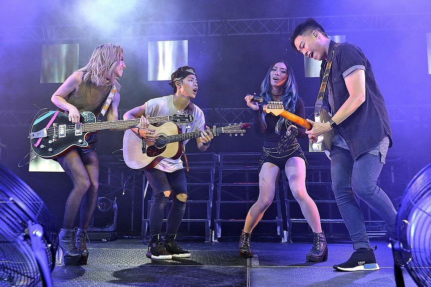 A confident showcase by The Sam Willows' (from left) Narelle Kheng, Benjamin Kheng, Sandra Riley Tang and Jonathan Chua.