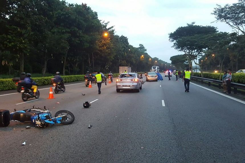 The accident during the morning rush hour took place in the direction of the Pan Island Expressway (PIE) after the Brickland Road exit.