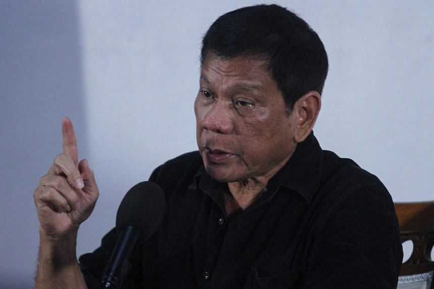 President, Rodrigo Duterte speaks during a news conference in Davao city in southern Philippines on June 2.