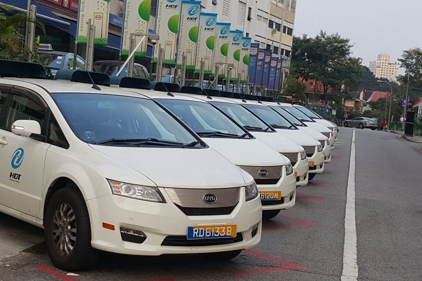 An example of the BYD e6 all-electric car, which will be used by HDT Singapore Taxi for its taxi fleet.