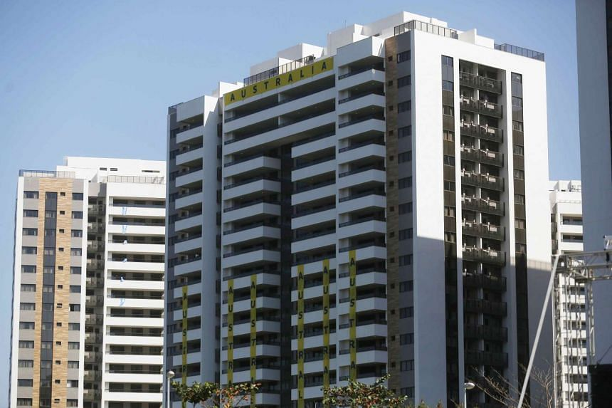 One of the apartment blocks where Australian athletes are supposed to stay in the Olympic Village in Rio de Janeiro.