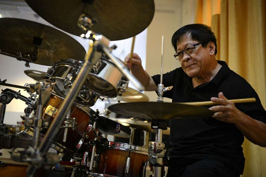 Louis Soliano (above) says he fell in love with the drums when he was 10.