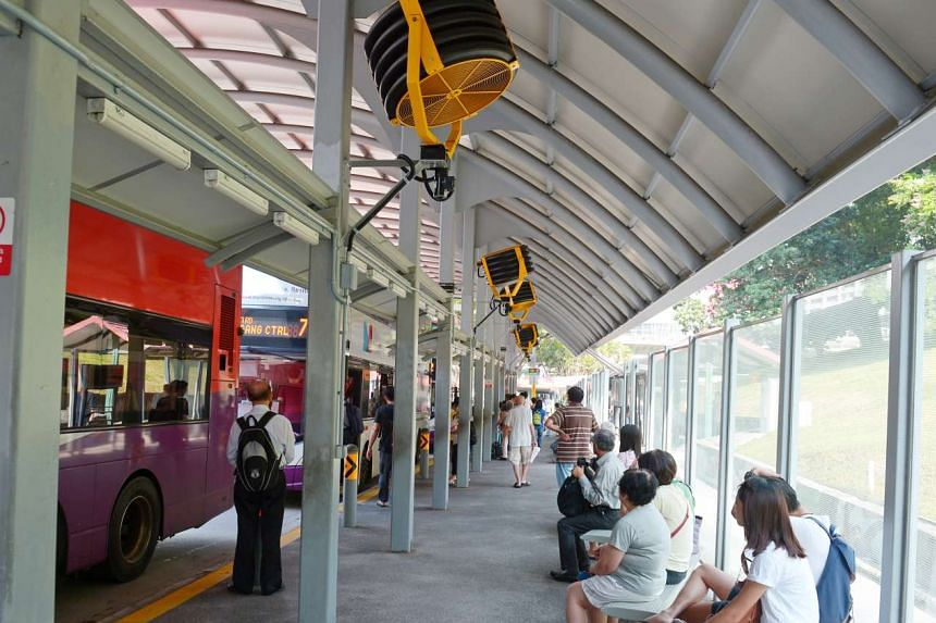 Since June 2016, the LTA has been testing out the use of electric fans at five bus stops in Singapore.