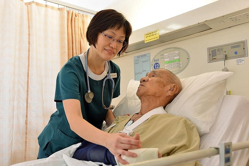 Ms Tay has an affection for older people and can communicate well with patients in dialect.